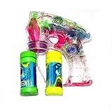 Oramics Seifenblasenmaschine Seifenblasen-Pistole mit 2 Behälter + beleuchtet und mit Sound...