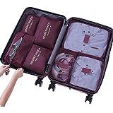Cocogo Kleidertaschen Packtaschen Packing Cubes Packwürfel im 7-teiligen Sparset