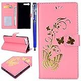 EUWLY Lederhülle für [Sony Xperia X1], Elegante Ledertasche Handytasche Flip Brieftasche Hülle...