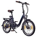 NCM Paris 20 Zoll E-Bike,E-Faltrad,36V 15Ah 540Wh Akku,250W Bafang Heckmotor,Mechanische...
