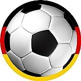 Kindergeburtstag Fussballparty Tortenaufleger Fussball Deutschland Rund 20 cm FB04