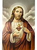 20er Pack Heiligenbilder Herz Jesu 10 x 6 cm