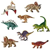 deAO Dinosaurier-Figuren Realistische Prähistorischen Spielfiguren SET (Mini Set (x8))