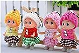 DishyKooker Mini-Puppe für Kinder, weich, interaktiv, für Mädchen und Jungen, 5 Stück