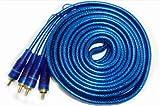 5m High End Cinch Kabel Audio mit spezial Abschirmung für CAR HIFI Endstufe Verstärker DVD-Player...