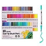 Malstifte, 72 Farben, Aquarellpinsel, Spitze und feine Spitze für Erwachsene, Malbücher,...
