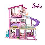 Barbie FHY73 - Traumvilla Dreamhouse Adventures, Puppenhaus mit 3 Etagen, 8 Zimmer, Pool mit Rutsche...