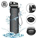 Trinkflasche,CAMTOA Wasserflasche aus Tritan 1000ml Auslaufsicher, Water Bottle Eco Friendly &...
