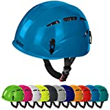 Universal Kletterhelm ARGALI Klettersteighelm in vielen modernen Farben von Alpidex, Farbe:turquoise...