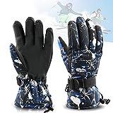 Zaeel Ski-Handschuhe für Herren Winter Wasserdicht Snowboard Handschuhe Warm Winterhandschuhe...