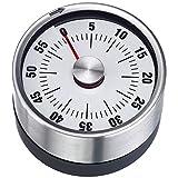 Westmark Analoger Küchentimer, Magnetisch, Rostfreier Edelstahl/Kunststoff, Futura, Weiß/Silber,...