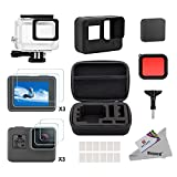 Deyard 25 in 1 Zubehör-Kit mit Shockproof Small Case Bundle für GoPro Hero 6 Hero 5 Action-Kamera
