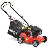 HECHT Benzin-Rasenmäher 5406 Benzin-Mäher (3,5 PS Motorleistung, 40 cm Schnittbreite, 3-fache...