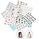 Nicedeco 15x Nagel Sticker Wrap Wasser Transfer Aufkleber Tattoo Tips Idee als Nail Art/Phone...