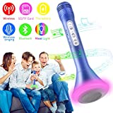 WOSTOO Bluetooth Karaoke Mikrofon, Portable Drahtlose Handmikrofon Lautsprecher Player Kabellos...