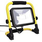 kwmobile LED Baustrahler 20W 1800lm - 5m Netzkabel - Baulampe Flutlicht Strahler -...