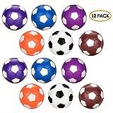 Tischfußball Ersatzbälle 12pcs, Oziral Mini 36mm Farbige Tischfußball Geeignet für Erwachsene...
