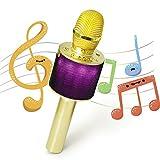 Nubeter Tragbares drahtloses Karaoke Mikrofon, Bluetooth-Lautsprecher Musik Spielen und Singen...