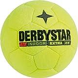 Derbystar Fußball Indoor Extra, Hallenball, Ball Größe 5 (400 g), gelb, 1152