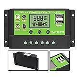 ALLPOWERS Solar Ladegerät Controller 20A intelligenter Solarladeregler Solar Panel Batterie mit USB...