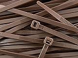 All Trade Direct Kabelbinder, 300mm x 4,8mm, 100Stück, dunkelbraun