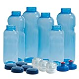 6 x Original Kavodrink Trinkflaschen aus TRITAN 100% ohne Weichmacher im Sparset: 2x1 Liter (rund),...