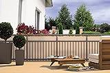Balkon-Sichtschutz Balkon-Verkleidung Balkonumspannung Balkon-Windschutz CREME beige 24 m Kordel...