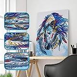 AmyGline DIY 5D Diamant Painting Hund Crystal Strass Stickerei Bilder Kunst Handwerk für Home Wall...