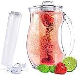 Sandford VITAL Karaffe/Wasserkaraffe (2,8l) mit Einsatz für Fruchtschorlen und Kühlung | Acryl...