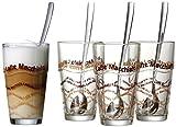 Ritzenhoff & Breker Latte Macchiato Gläser-Set, 8-teilig mit Löffel