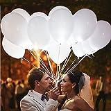 leutende Luftballons mit LED Licht Hochzeit Deko 20 Stück über 24 Stunden Leuchtdauer für...