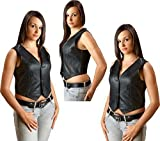 Lederweste Damen Biker Lady Leather vest Western Gr. S Wild West Line Dance Kleidung
