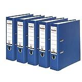 Falken PP-Color Kunststoff-Ordner 8 cm breit DIN A4 blau 5er Pack Ringordner Aktenordner Briefordner...