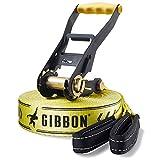 Gibbon Slacklines Classic Line, Gelb, 15 Meter, 12,5m Band + 2,5m Ratschenband, für Anfänger,...