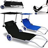Strandliege Kreta klappbar Blau Alu- Gartenliege Strand Sonnenliege Liegestuhl Liege