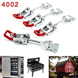 4Pcs Metall Hebel Verschluss Spannverschluss Kistenverschluss Kappenschloss4002 184KG/404lbs Halten...