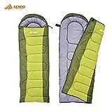 Semoo - Schlafsack - Deckenschlafsack - 3-Jahreszeiten-Schlafsack - 200 x 70 cm - Grün