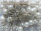 Perlen-Nadeln Deko-Nadeln Perle WEISS 6mm 100 Stück ACHTUNG! KEINE STECKNADELN