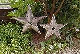 Metallstecker 2er Set Gartenstecker Stern silber Deko Xmas Weihnachten Sterne