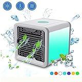 Mini Air Luftkühler, Mobile Klimageräte, Luftkühler USB Klimagerät 3 in 1,Luftbefeuchter und...