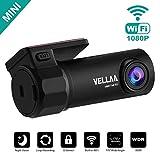 VELLAA Dashcam Full HD 1080P Mini WiFi Dash Cam Autokamera Dashcamera Recorder mit 170°...