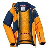 Fifty Five Saint Andrews Herren Skijacke Snowboardjacke - ORANGE BLAU M - Outdoorjacke mit Kapuze...