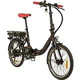 REMINGTON City Folder 20 Zoll Faltrad E-bike Klapprad Pedelec StVZO, Farbe:Schwarz