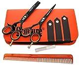 Friseurscheren - Haarscheren - Effilierschere Set 5.5' (13.97) (5.5 Inch)