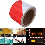 KING DO WAY 3M Rot Weiß Twill Reflektierende band Selbstklebende Sicherheit Warnung Conspicuity...