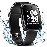 Verpro Bluetooth Smartwatch Wasserdicht Fitness Uhr, Fitness Tracker Sport Uhr mit Schrittzähler...