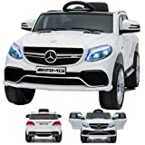 SIMRON - Mercedes-Benz GLE63s GLE 63s AMG SUV Ride-On 12V Kinderauto Kinderfahrzeug Weiss