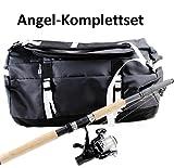 Schnäppchen ANGEL-KOMPLETTSET + TASCHE schwarz wasserfest Angelrute B/H/T ca. 53 x 32,5 x 32,5 cm...
