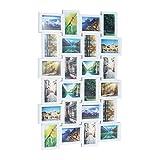Relaxdays Bilderrahmen für 24 Fotos, Fotorahmen zum Hängen, Fotocollage selbst gestalten, HBT: 59...