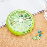 Dreh Pill-Box Tablettendose Pillenbox Tablettenbox Mini Medizin Süßigkeitsgummireise Lagerung Fall...